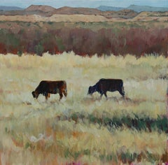 Abiquiu Layers (layered plains, mountains, Willow, prairie grass, red/gold/grn)