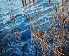 Gila Cattails (water, plants, cattails, blue)