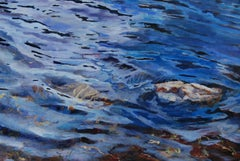 River Rock (river, water, blue, rock)