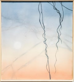 Dormant - Blue, Orange, Black and White Painting of Kudzu Vine, Atmospheric