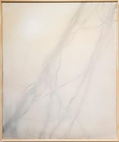 Frost - Yellow, Orange and Grey nature painting, Kudzu Vine, Atmospheric