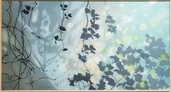 Kudzu Season - Green, Blue, Yellow, Black Painting, Layered and Painted Tyvek
