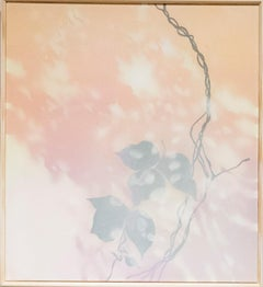 Waning - Peach, Lavender, Grey Painting of Kudzu Vine, Nature, Atmospheric