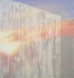 Window IV - Contemporary Abstract Mixed Media Painting, light and shadow, icicle