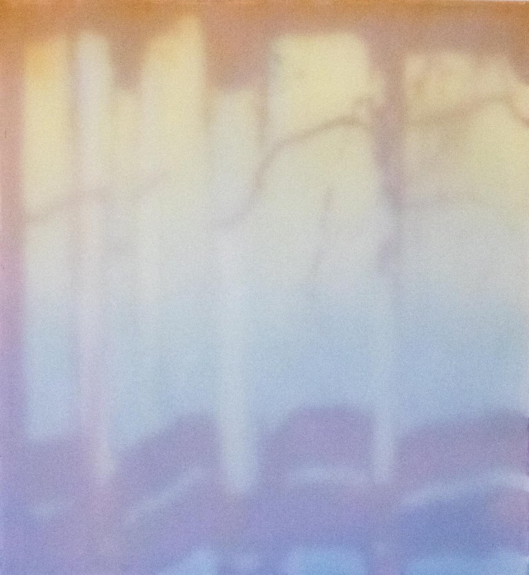 """Window VI"" is one piece in Heather Hartman's Spare Room series. Hartman's work combines paper softly appearing behind polyester mesh to create the illusion of light glowing through the periphery of life. Her interests lie in capturing the soft,"