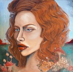 Ambient Mushroom, Painting, Oil on Canvas