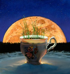 """""""Onion Moon Rising"""", Oil Painting"""