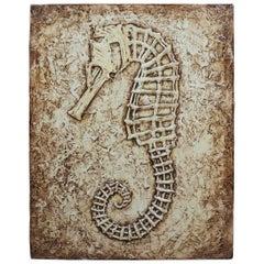 Heather Pettersen Seahorse Acrylic Painting on Canvas Beach Ocean Fish