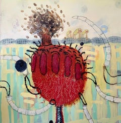 Heather Wilcoxon, Blow Out, Oil on Board, 2007