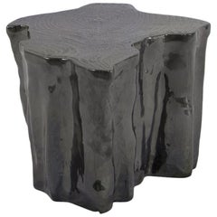 Heaven Black Ceramic Side Table