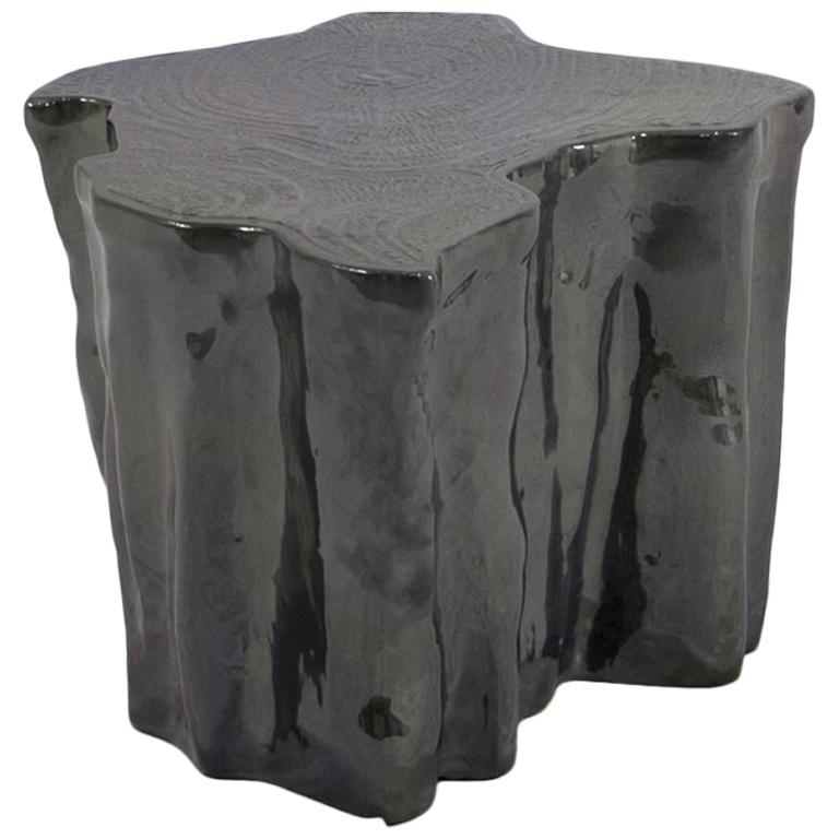 Heaven Black Ceramic Side Table For Sale