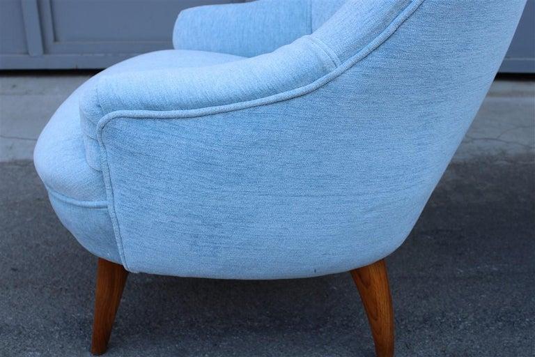 Heavenly Mid-Century Italian Design Pair of Small Armchairs Gio Ponti Style 3