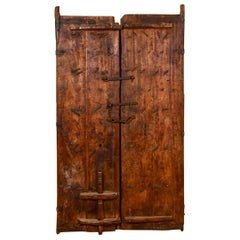 Heavily Carved Set of Teak Doors from India, 20th Century