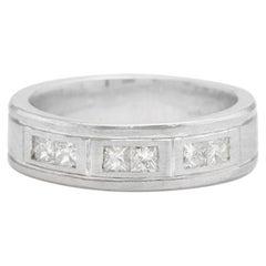 Heavy 0.90 Carat Natural Diamond 14 Karat Solid White Gold Men's Ring