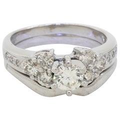 Heavy 14k WG 1.26CTW Diamond Wedding/Engagement Ring W/ .56CT ctr
