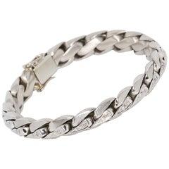 Heavy, 18 Karat White Gold Bracelet, with 86 Diamonds, 1.28 Carat