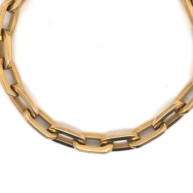 Heavy 18 Karat Yellow Gold Paperlink Bracelet 37.2 Grams For Sale 1