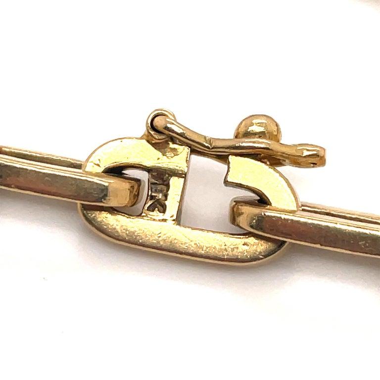 Heavy 18 Karat Yellow Gold Paperlink Bracelet 37.2 Grams For Sale 2