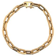 Heavy 18 Karat Yellow Gold Paperlink Bracelet 37.2 Grams