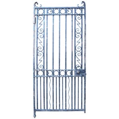 Heavy 19th Century Wrought Iron Pedestrian Gate