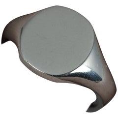 Heavy and Solid 950 Palladium Signet Ring