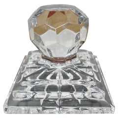 Heavy Art Deco Cut Crystal Paper Weight, Numbered Limited Edition