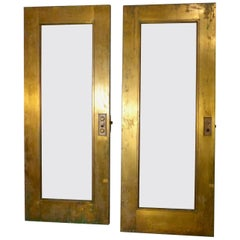 Heavy Brass Exterior Doors Set of 4, circa 1910