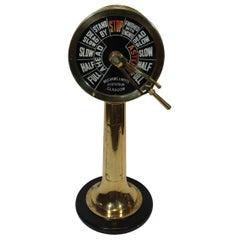 Heavy Brass Ships Engine Order Telegraph