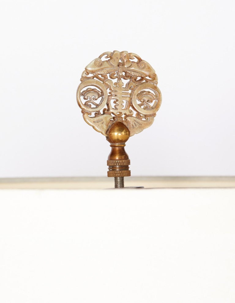 Heavy Bronze Handmade Asian Floor Lamp, circa 1920s In Good Condition For Sale In Plymouth, MA