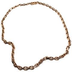 Heavy Chain Necklace 14 Karat Gold, Denmark, 1970