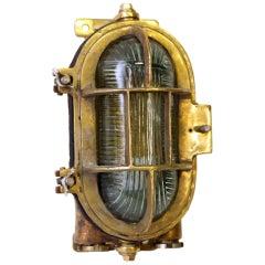Heavy Duty Brass Oval Ship Light Sconce