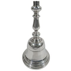 Heavy English Sterling Silver Bell by Comyns