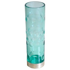 Heavy Glass Vase from the 1960s