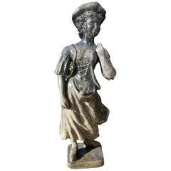 "Heavy Iron Shepherdess ""Fruit Picker"" Statue after John Cheere, London, 1880"