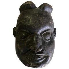 Heavy Oceanic Papua New Guinea or African Carved Wood Mask