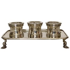 Heavy Silver Inkstand