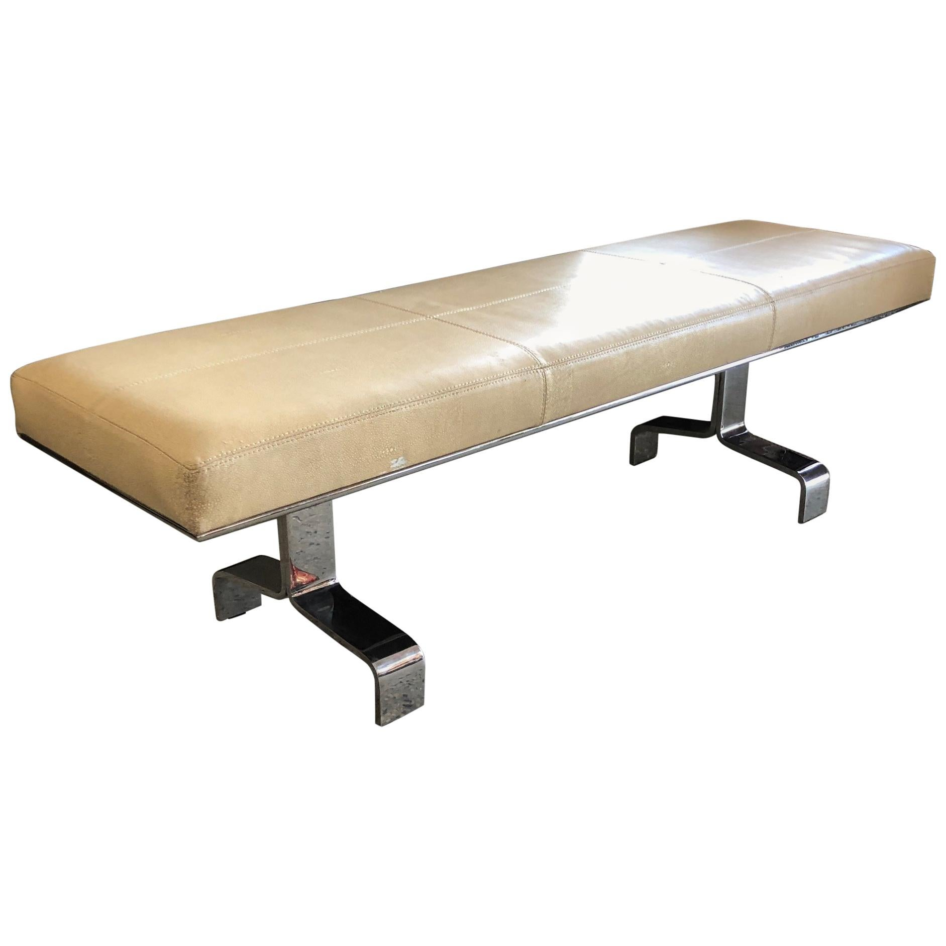 Heavy Stainless Steel Bench by Decca