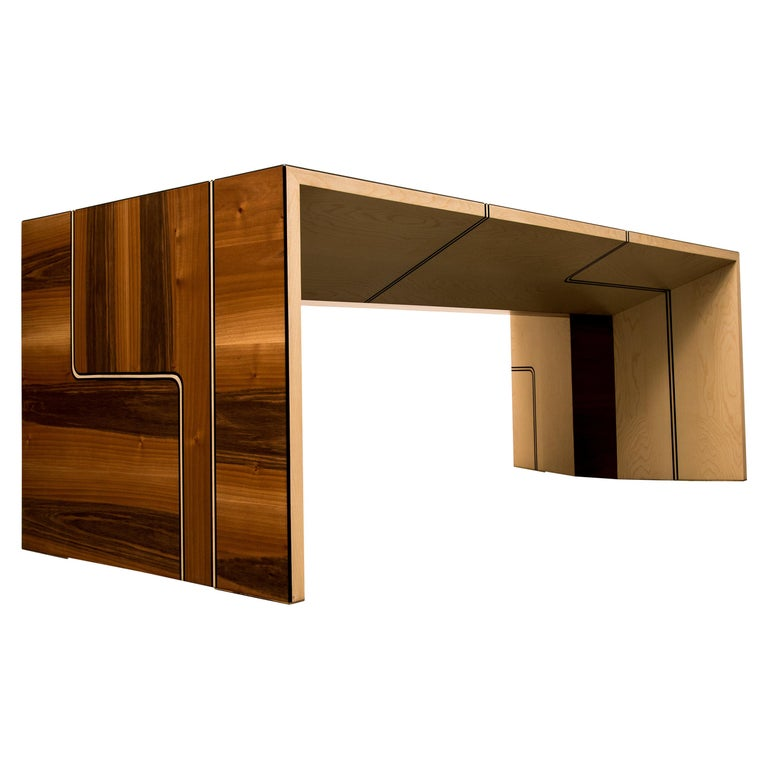 """""""Heavy Traffic"""" Desk, Walnut and Maple by Ivan Paradisi For Sale"""