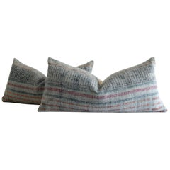 Heavy Woven Cotton Accent Lumbar Pillow