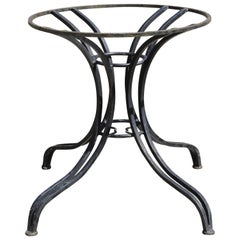 Heavy Wrought Iron Garden Patio Dining Table Pedestal Base after Salterini