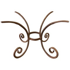 Heavy Wrought Iron Oval Table Base
