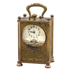 Hebdomas Carriage Clock '8 Jours', Bronze, Etc, France, circa 1900
