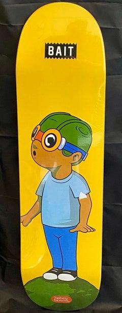 Hebru Brantley Flyboy skateboard deck (Hebru Brantley yellow flyboy)