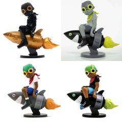 Hebru Brantley Flyboy Set of 4 (Hebru Brantley art toy Beyond the Beyond)