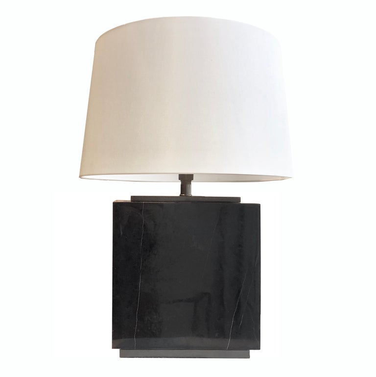 Hector Black Marble Table Lamp For