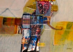 Hector Frank Abstract Mixed Media Figurative Painting
