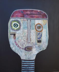 Hector Frank - Latin American Figurative Mixed Media Painting