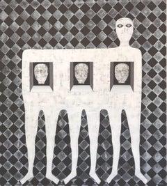 Hector Frank - Untitled Neutral Textured Portrait