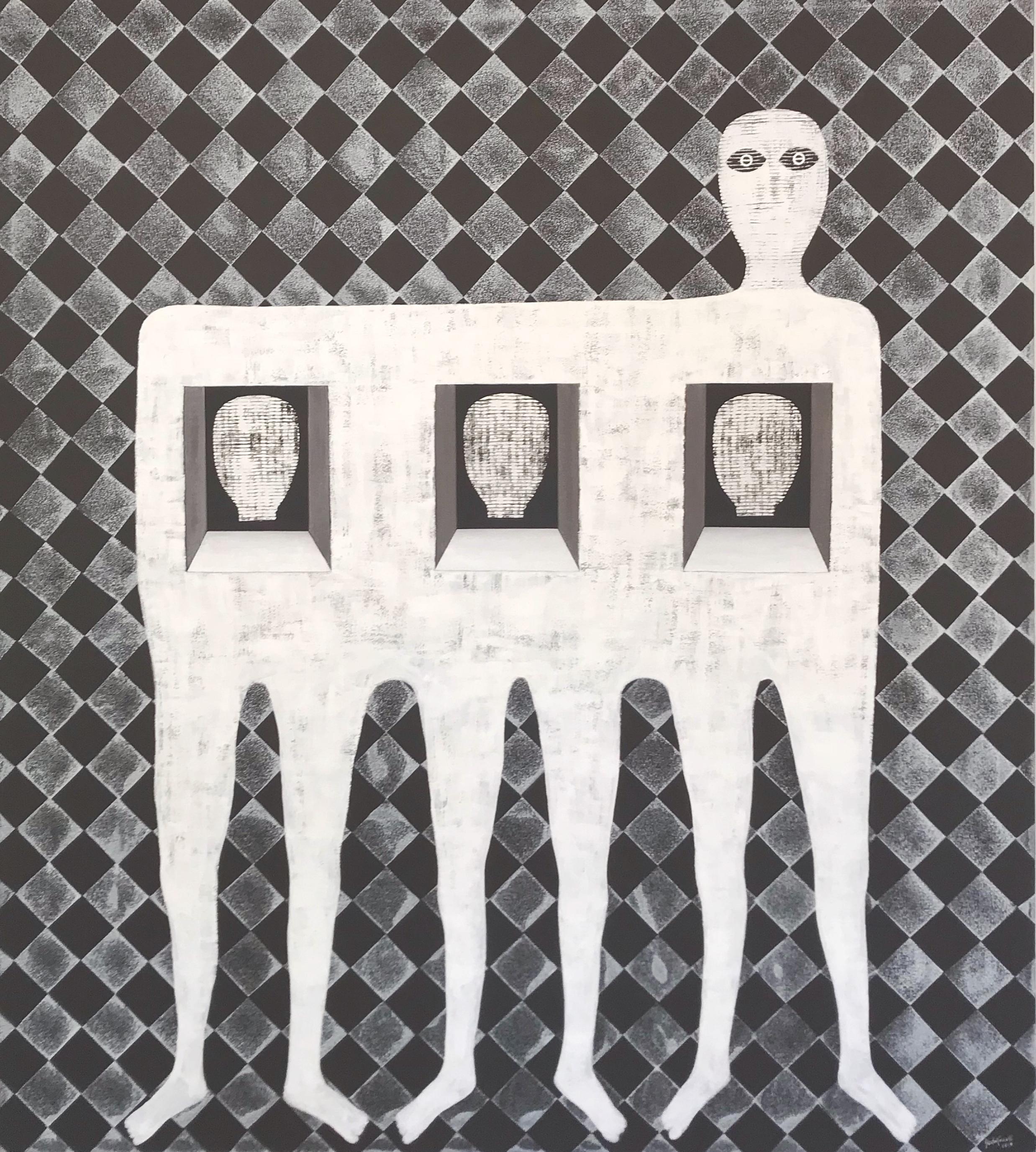 Untitled - Cuban Neutral Textured Portrait
