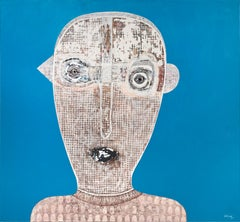Untitled Portrait - Hector Frank, Cuban Figurative Painting